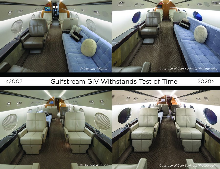 The Interior is HOW Old?                   Gulfstream GIV Refurbished by Duncan Aviation Withstands Test of Time | Duncan Aviation